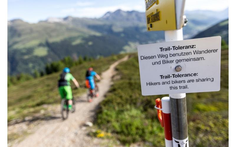 Trail-Toleranz ist wichtig auf der Bahnentour Davos Klosters
