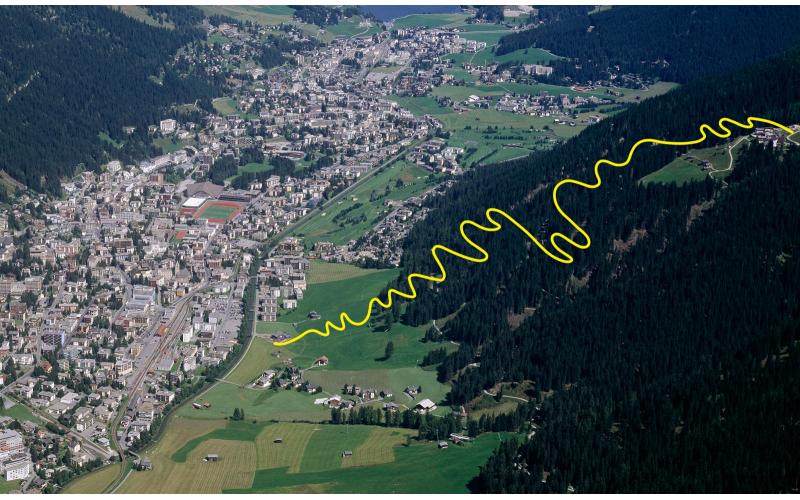 Ischalp-Trail bis Bolgen Plaza Davos