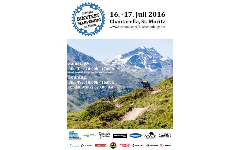 Corviglia Biketest Happening Poster