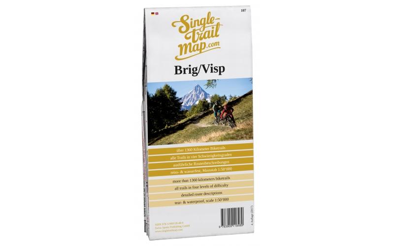 Singletrail Map 107 Brig/Visp