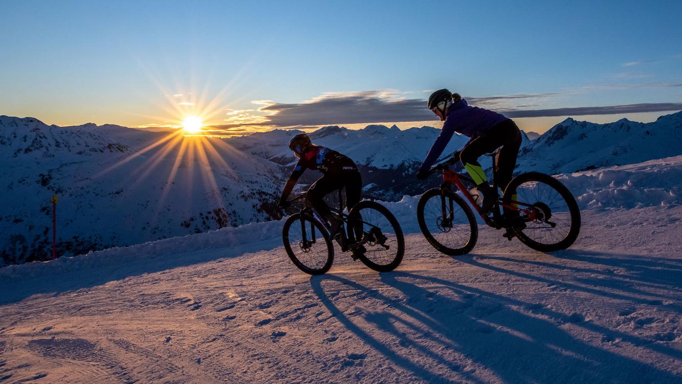 Snow-Biking auf Pischa
