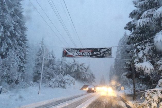 Enduro Series Flims im Schnee