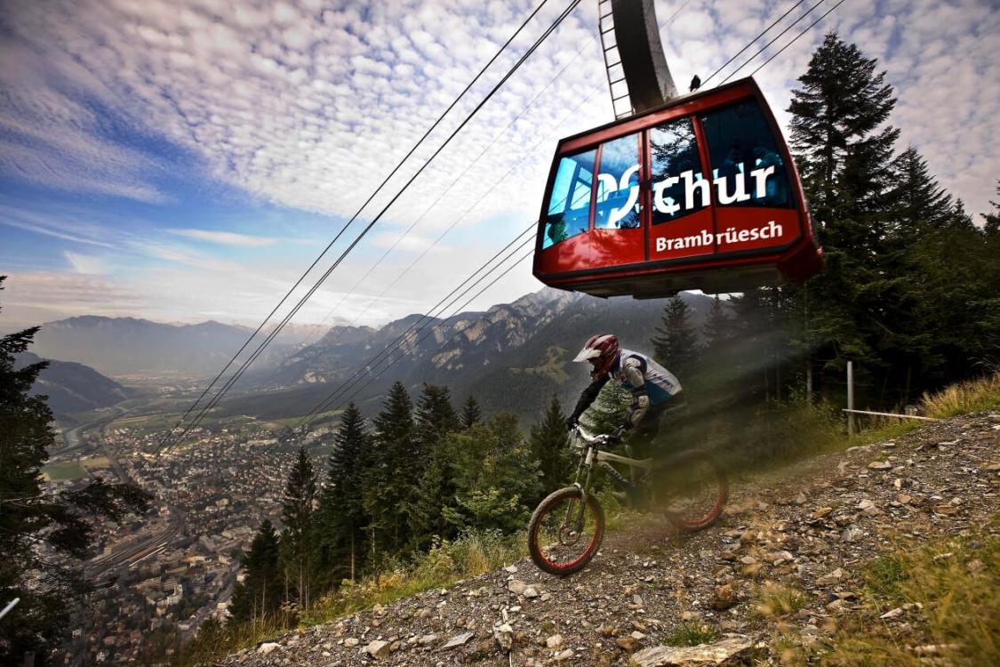 Bergbahnen Brambrüesch Alpenbike Park Chur untere Sektion