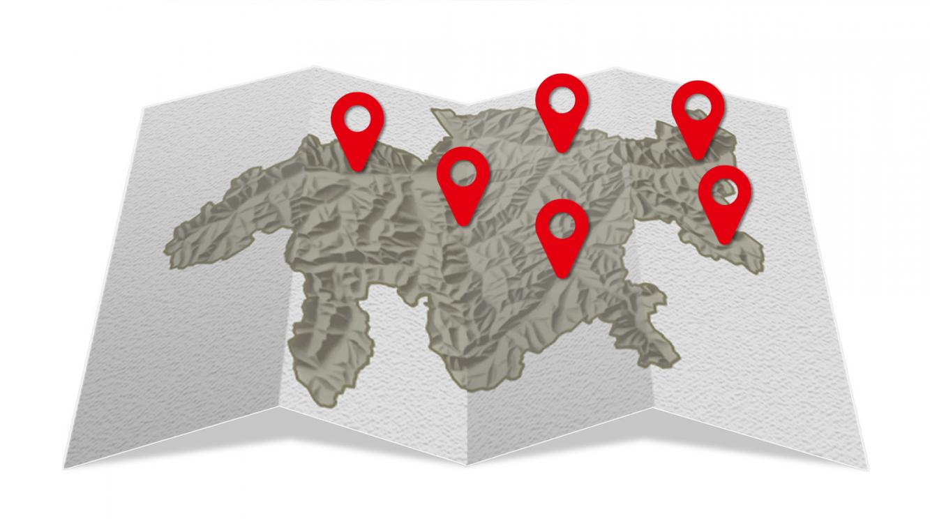 Landkarte Graubünden