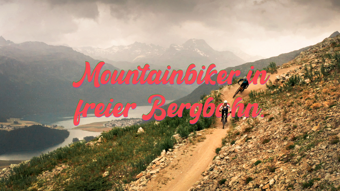 Bahnentour Engadin St. Moritz – Mountainbiker in freier Bergbahn