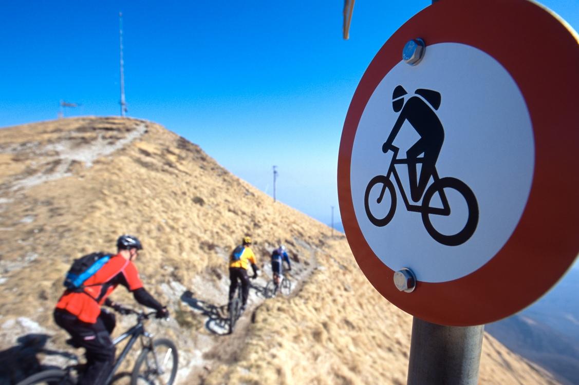 Bike-Verbot am Monte Lema
