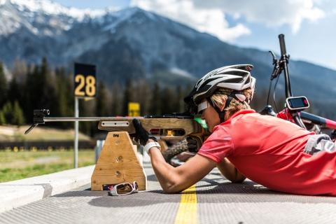 Biathlon Arena Lenzerheide, graubündenBIKE-Hotel, Bike-Biathlon