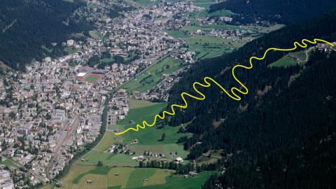 Trail Ischalp - Bolgen Plaza Davos