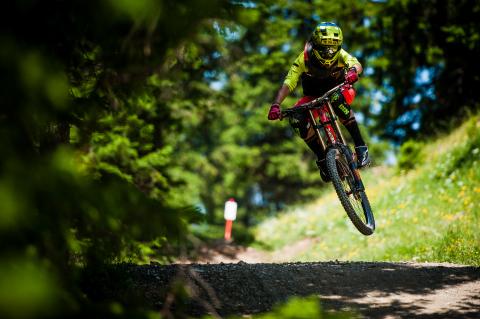 Lenzerheide Bikepark Jump Downhill