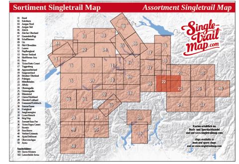 Singletrail Map 102 Sortimentsübersicht