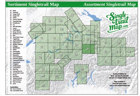 Singletrail Map 020 Sortimentsübersicht