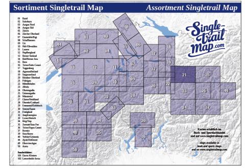 Singletrail Map 021 Sortimentsübersicht