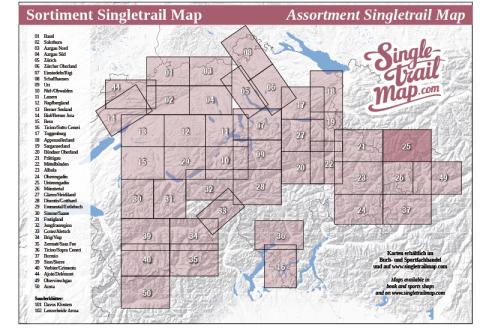 Singletrail Map 025 Sortimentsübersicht