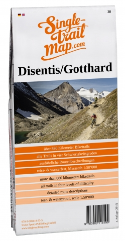 Cover Singletrail Map 028 Disentis/Gotthard