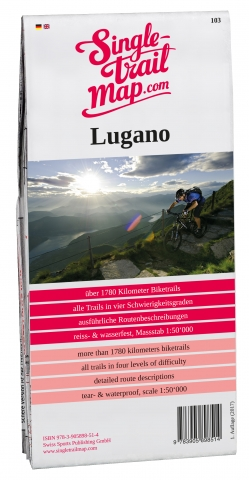 Singletrail Map 103 Lugano | Herbert.bike