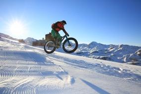 Fatbiken auf Pischa mit Bike Academy Davos