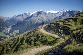 Höhenweg Alp Munt, Engadin St. Moritz