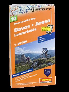 Hallwag Mountainbike Map Davos Arosa Lenzerheide