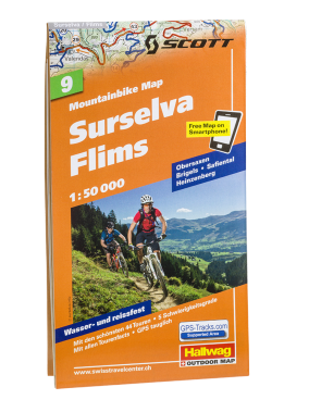 Hallwag Mountainbike Map Surselva Flims