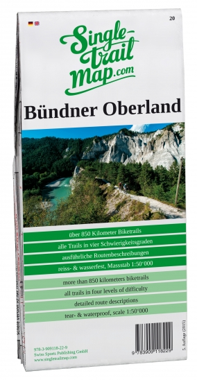 Singletrail Map 020 Bündner Oberland