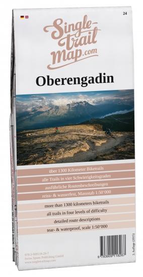 Produktbild Singletrail Map 024 Oberengadin