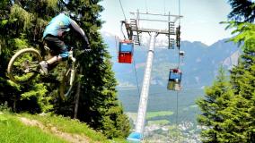 Bergbahnen Brambrüesch Alpenbike Park Chur alte Gondeln
