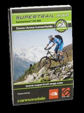 Supertrail Map Davos Arosa Lenzerheide